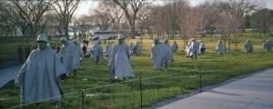 Korean War Veterans Memorial in Washington DC