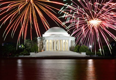 fourth of july fireworks viewing in washington dc